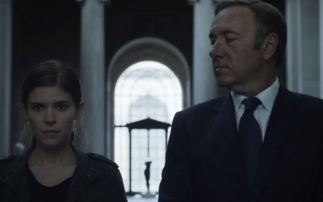 Zoe Barnes e Frank Underwood - House of Cards - Netflix