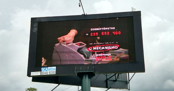 O Mecanismo   Netflix instala medidor de corrupção em Brasília